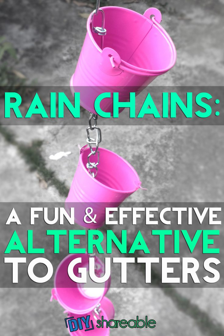 Pin It - DIY Rain Chains: A Fun & Effective Alternative To Gutters