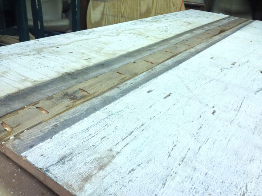 creating the tabletop for a farmhouse table
