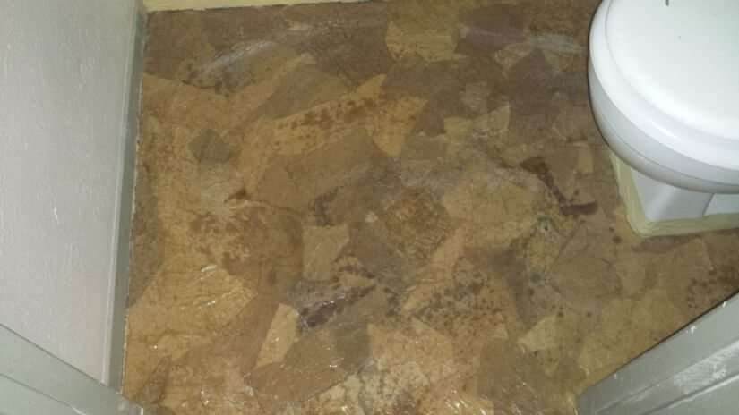 overlapping paper pieces for brown paper bag floors